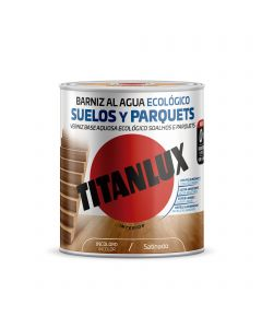 Barniz madera satinado incoloro 750 ml poliuretano ecologico interior titanlux