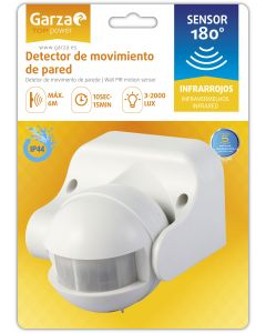 Detector movimiento infrarrojos 84x160x210mm garza 430041