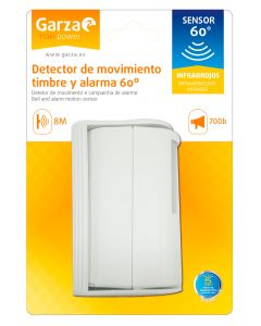 Detector movimiento infrarrojos 82x105x147mm garza 430076