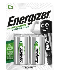 Pila c2 recargable 2ud 80x27x120mm hr14 bl2 energizer e300321802