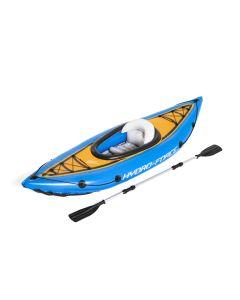 Kayak hinchable 275x81xm con bomba y remos bestway plastico azul cove champion 6