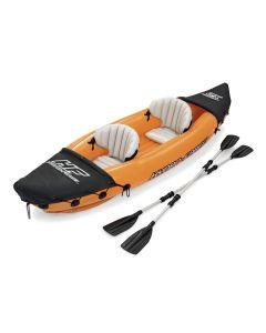 Kayak hinchable 321x88cm con bomba y remos bestway plastico naranja lite-rapid x
