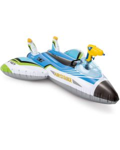 Colchoneta piscina 117x117 cm hinchable intex water gun plane ride-on 57536np