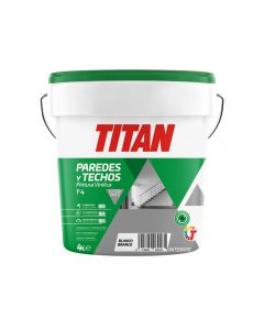 Pintura vinilica mate interior blanco t4 titan 4 lt