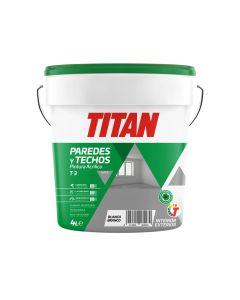 Pintura acrilica mate interior-exterior blanco t3 titan 4 lt