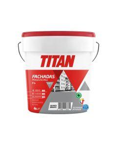 Pintura acrilica mate fachadas blanco f4 titan 4 lt