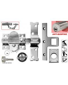 Cerrojo sobreponer boton/llave anti-bumping 50mm acero cromado 31-sa cromado int