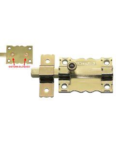 Pasador sobreponer sin llave 85x7mm acero dorado 6 interfer