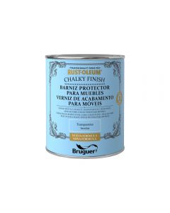 Barniz protector para muebles transparente 750 ml al agua mate rust-oleum  co