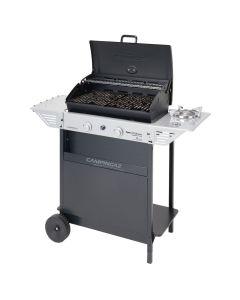 Barbacoa gas 2 quemadores campingaz acero negro gris xpert 200 ls rocky con tapa