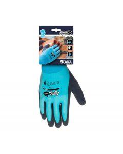 Guante mecanico l09 juba nylon/latex me azul/gris feel and grip splash