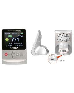 Medidor dioxido de carbono infrarrojo plastico plata ocariz