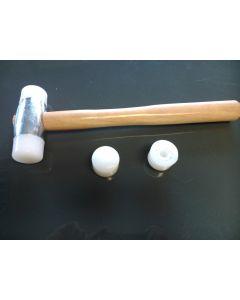 Martillo mecanico cabeza nylon mango madera 34mm erce