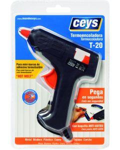 Pistola encolar termofusible con gatillo 20 w t-20 ceys