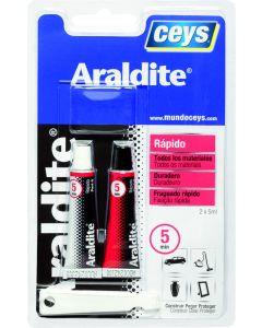 Adhesivo epoxy rapido 5 minutos 5+5 ml araldit ceys