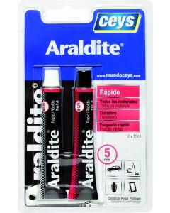 Adhesivo epoxy rapido 5 minutos 15+15 ml araldit ceys