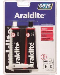 Adhesivo epoxy rapido 5 minutos profesional 75+75 ml araldit ceys