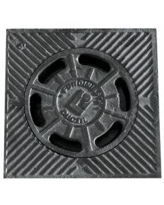 Sumidero evacuacion agua campana 200x200mm hierro fundido negro fundiniesta