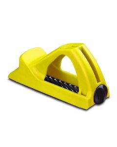Cepillo carpintero hoja 140mm stanley amarillo ma surform corto sintetico 5-21-104