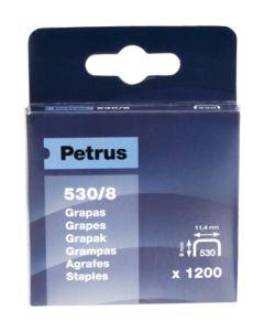 Grapa clavadora modelo 530 08mm acero petrus 1.200 pz 77514