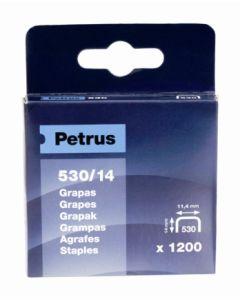 Grapa clavadora modelo 530 14mm acero petrus 1.200 pz 77517