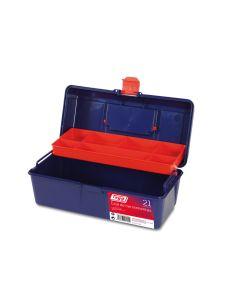 Caja herramientas bandeja 310x160x130mm polipropileno azul nº21 tayg