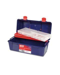 Caja herramientas bandeja y estuche 356x184x163mm polipropileno azul nº23 tayg