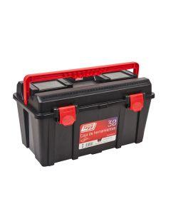 Caja herramientas bandeja 445x235x230mm polipropileno negro nº30 tayg