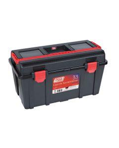 Caja herramientas bandeja y estuche 480x258x255mm polipropileno negro nº33 tayg