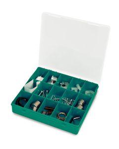 Estuche clasificador domestico 215x207x42mm polipropileno base verde 33-15 tayg