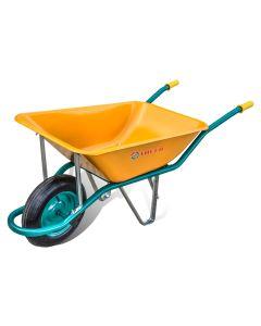 Carretilla construccion obra 90lt metal amarillo c1/550 theca