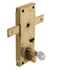 Cerradura metalica puertas metalicas basculantes 154x60mm laton 11b/m cvl