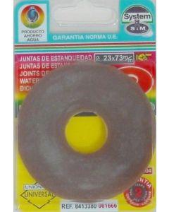 Junta inodoro plana descarga cisterna goma s&m 001666