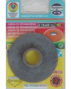 Junta inodoro plana cuello cisterna goma s&m 001673