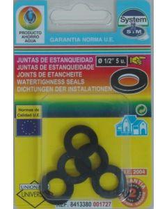 "Junta fontaneria plana 5pz 1/2"" goma s&m 5 pz 001727"