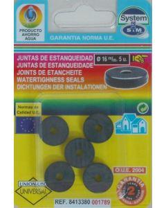 Junta grifo soleta 5pz 16mm s&m 5 pz 001789