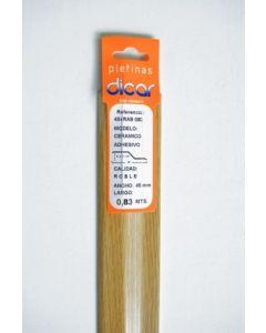 Pletina perfilada distinto nivel adhesivo 83x45mm acero inox roble dicar