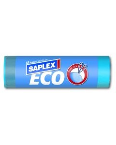 Bolsa basura cierra facil 55x60 cm 15 pz plastico azul saplex