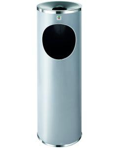 Cenicero/papelera pie 66x21,5cmø acero grafito b-10 cilindro