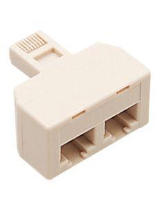 Adaptador telefonia 2 conexiones marfil engel axil