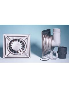 Sumidero evacuacion agua campana 150x150mm acero inox aisi 304 e y g