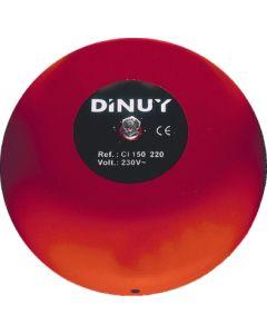 Timbre electricidad campana industrial 15cm 220v dinuy ref.ci.150.220