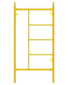 Marco construccion andamio estandar 3 peldaños 2x1mt amarillo theca