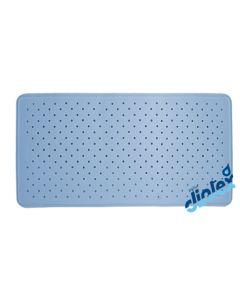 Alfombra baño antideslizante bañera 70x36cm azul dintex 811