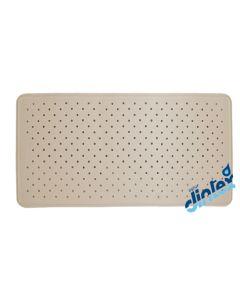 Alfombra baño antideslizante bañera 70x36cm beige dintex 812