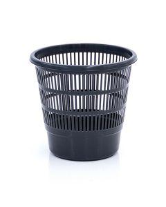 Papelera residuos rejilla 16lt gris oscuro plastico tes