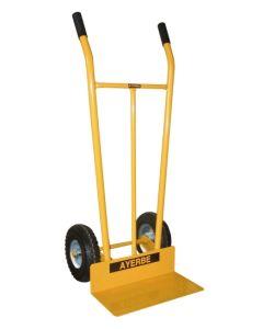 Carretilla almacen con rueda metal amarillo ayerbe 580470