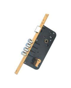 Cerradura seguridad madera embutir 1 punto 23x50 canto cuadrado laton yale 891280y70m3bc