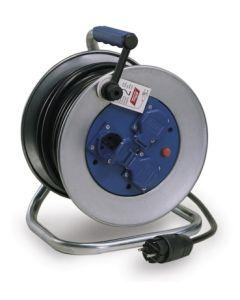 Enrollacable electricidad 3 tomas tt termostato 3x2,5mm 25mt 4000w ip55 metal ta