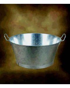 "Barreño agua redondo con asas 30"" metal galvanizado manuel soler 01110030"